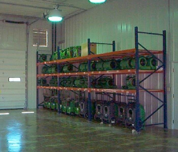 General Warehouse Stocked with Equipment
